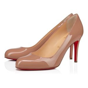Christian Louboutin Simple 85mm Patent Nude Pump